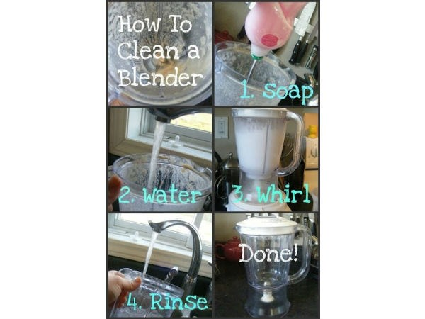 how to clean a blender life hack
