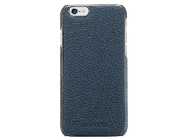 Adopted Leather Wrap Case in Navy and Gunmetal