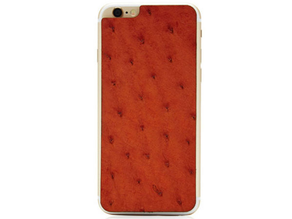 Valentine Goods Cognac Ostrich iPhone 6 Leather Back