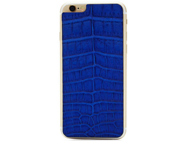 Valentine Goods Cobalt Crocodile iPhone 6 Leather Back