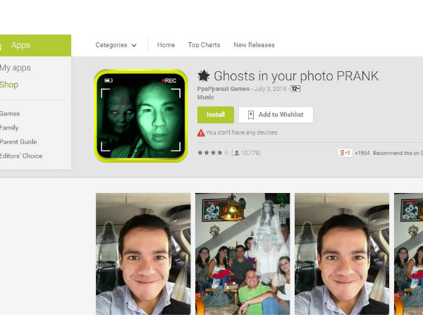 Ghosts in your photo PRANK