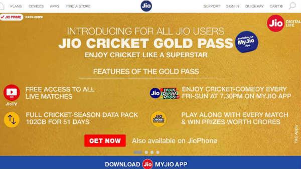 IPL 2018 ലൈവായി കാണാന് ജിയോയുടെ 'ക്രിക്കറ്റ് ഗോള്ഡ് പാസ്' എങ്ങനെ നേടാം ?
