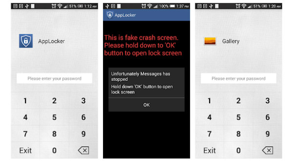 5. AppLocker Fake Crash