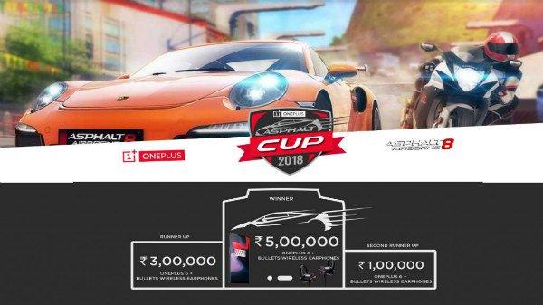 'OnePlus Asphalt Cup 2018': അഞ്ച് ലക്ഷം രൂപ വരെ നേടാം..! എങ്ങനെ?