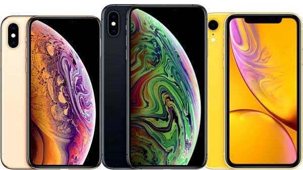Apple iPhone XS/XS Max and XR