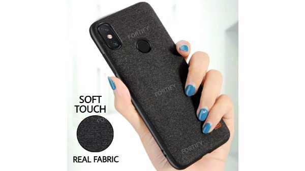 Fortify Premium Soft Fabric Hybrid Protective Back Cover Case