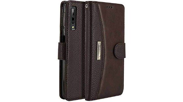 D-kandy Professional Series Leather Flip Wallet Case Stand with Metal Logo