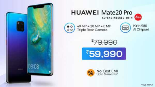 25% off on Huawei Mate 20 Pro