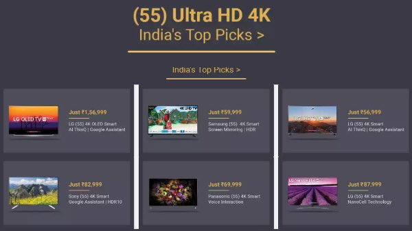 ഇന്ത്യയില് വാങ്ങാവുന്ന ഏറ്റവും മികച്ച 4K അള്ട്രാ എച്ച്ഡി സ്മാര്ട്ട് ടിവികള്