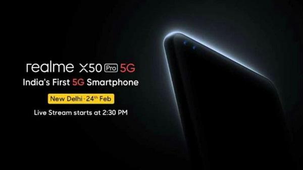 Realme X50 Pro 5G: ഇന്ത്യയിലെ ആദ്യത്തെ 5ജി സ്മാർട്ട്ഫോണാവാൻ റിയൽമി എക്സ്50 പ്രോ 5ജി വരുന്നു